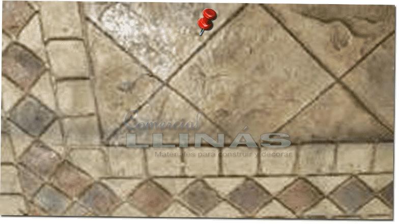 Molde hormig n impreso cenefa azulejo par s comercial llin s for Limpiar hormigon impreso