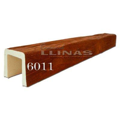 Viga rústica de poliuretano 6011 de 12cm x 11cm x 3m