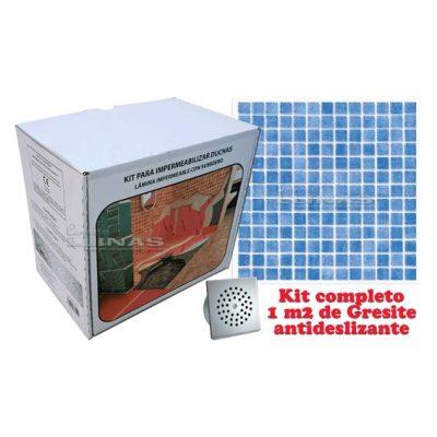 Aikit con 1 m2 de Gresite antideslizante. Aikit Gurú con 1 m2 de Gresite antideslizante