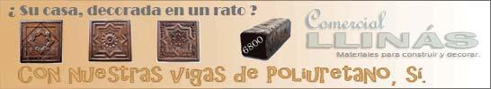 Banner de vigas y complementos de poliuretano