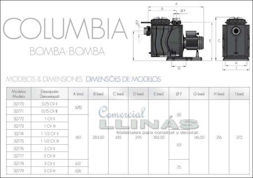 bomba-piscina-columbia-medidas