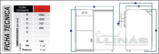 Características CLBio compacta 24 Kw