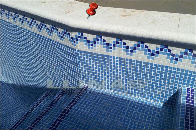 Cenefa gresite piscinas modelo n comercial llin s for Modelos gresite piscinas