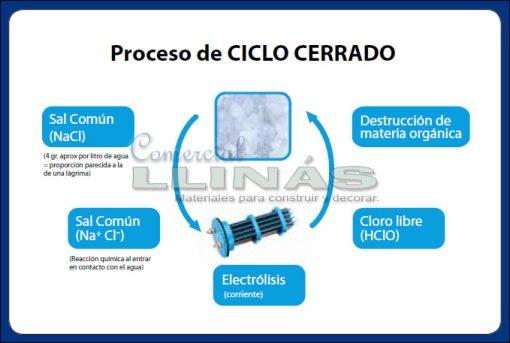 Cloradores salino, ciclo de clorado