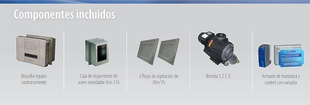 Componentes Equipo contracorriente Advance ND de AstralPool