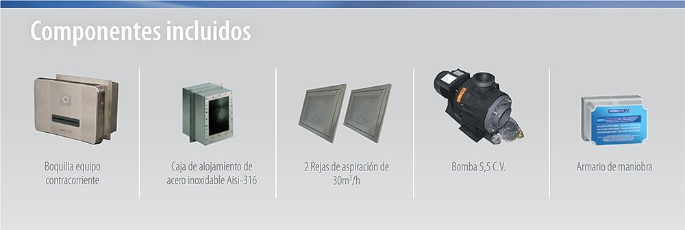 Componentes Equipo de natación contracorriente BASIC ND de AstralPool