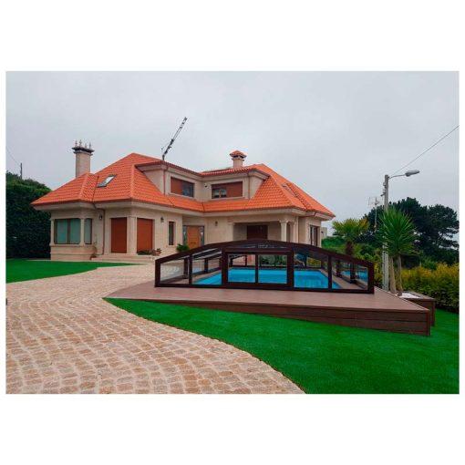Cubierta piscina modelo Baja Premium