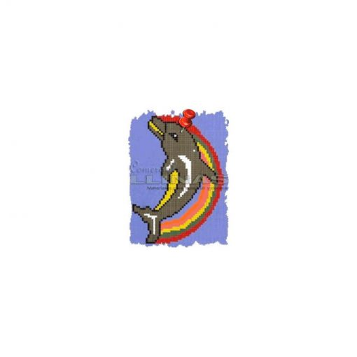Dibujo fondo piscina Delfín 3 Arcoiris