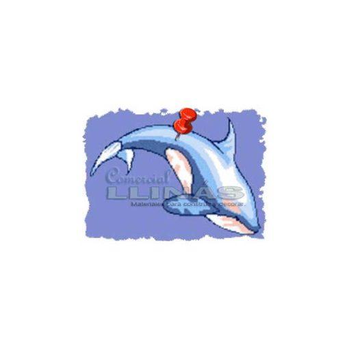 Dibujo fondo piscina Orca plateada grande
