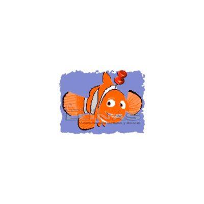 Dibujo fondo piscina Pez Payaso grande