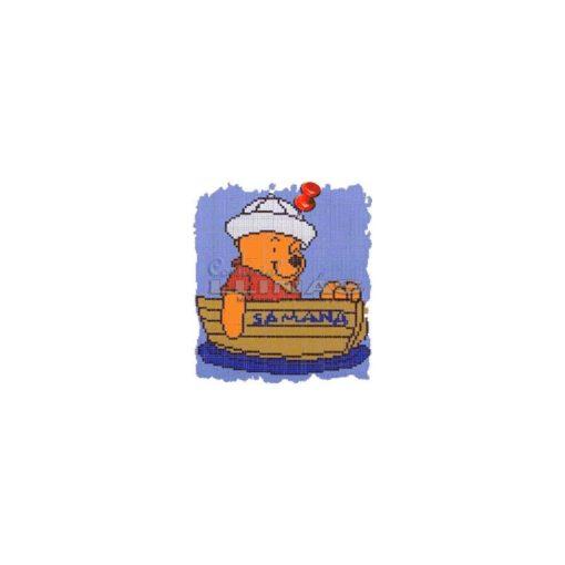 Dibujo fondo piscina infantiles Samana-osito
