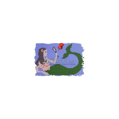 Dibujo fondo piscina Sirena tumbada