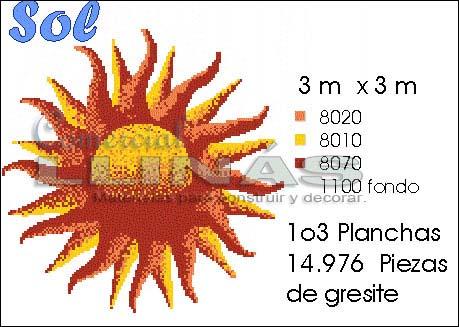 Dibujo para piscina Sol grande
