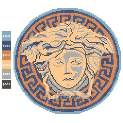 Dibujo Gresite para piscina de Diosa Griega Medusa