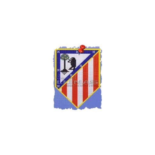 Dibujo fondo piscina Escudos Fútbol Atlético de Madrid