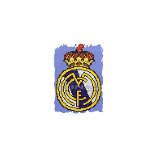 Dibujo fondo piscina Escudos Fútbol Real Madrid