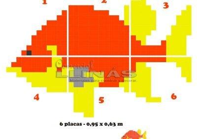 Dibujo personalizado Pez color rojo