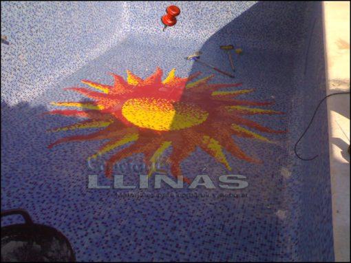 Dibujo fondo piscina Varios Sol grande