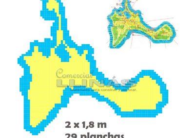 Dibujo personalizado de una isla