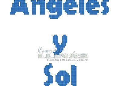 Dibujos personalizados para piscina. Angeles y Sol