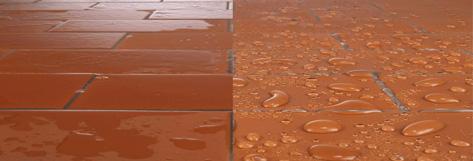 Efecto del Idrocem en materiales porosos