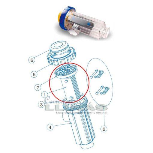 Electrodo célula clorador Idegis Tecno