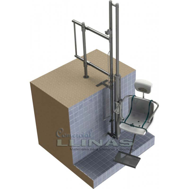 Elevador hidr ulico discapacitados aqua lift comercial for Sillas de escaleras para minusvalidos