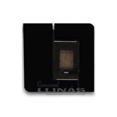 Estufa de Pellet modelo Neysa para pasillo color negro