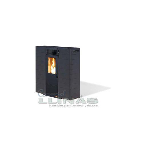 Estufa de Pellet para pasillo 8 Kw color negro