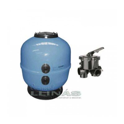 Filtro piscina Aster color Azul 500L con válvula selectora