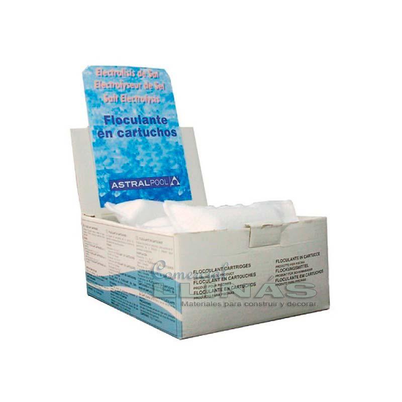 Floculante en cartucho 100g astralpool especial for Cantidad de sal para piscinas