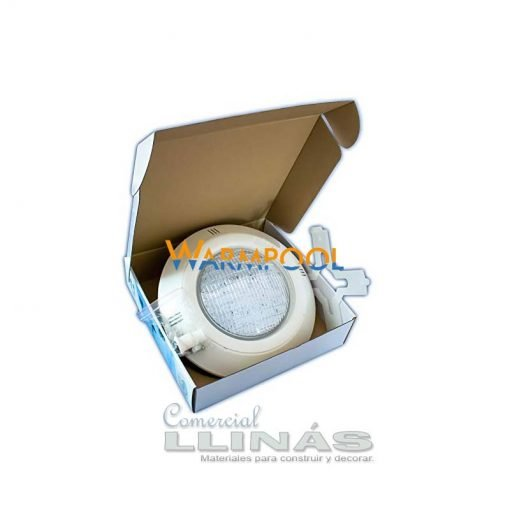 Foco para piscina Warpool color blanco 18W. Interior caja