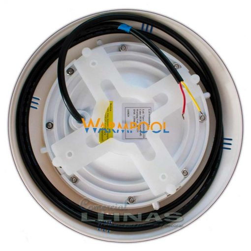 Foco para piscina Warpool color blanco 18W. Trasera del foco