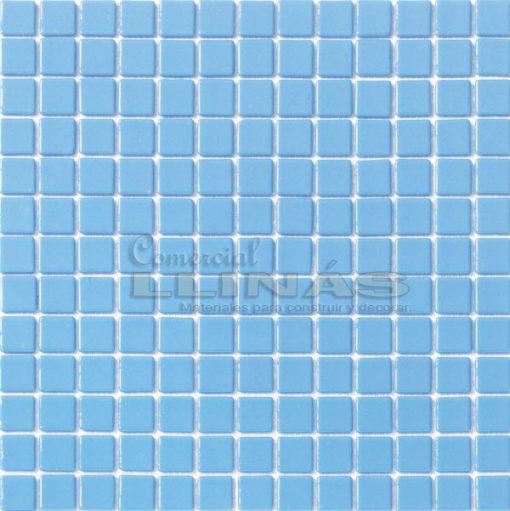 Gresite piscina azul claro liso. Placa completa
