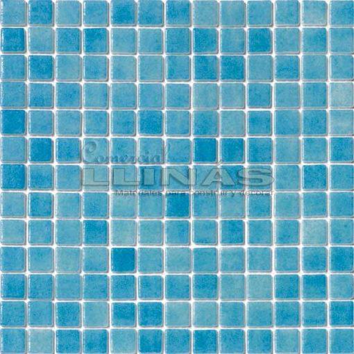Gresite piscina azul celeste niebla. Placa completa
