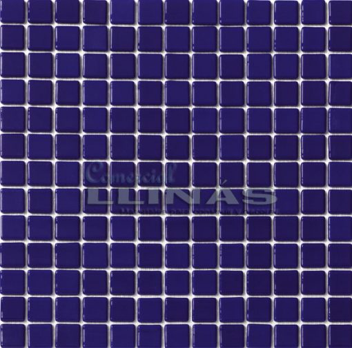 Gresite piscina azul marino oscuro liso. Placa completa