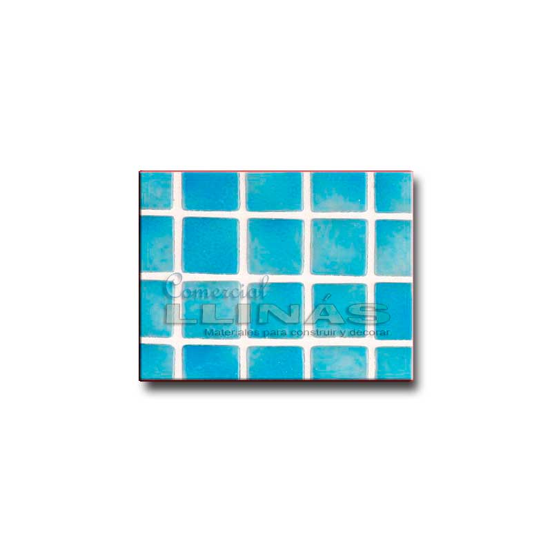 Gresite piscina serie niebla azul turquesa comercial llin s - Gresite piscinas colores ...