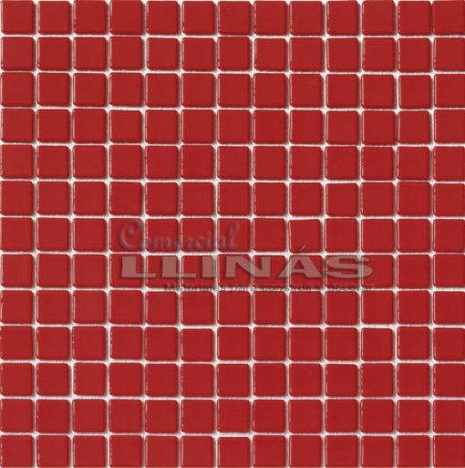 Gresite piscina rojo liso. Placa completa