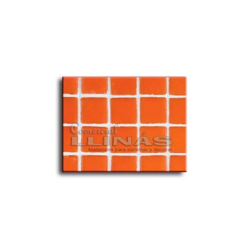 Gresite piscina serie lisa Naranja