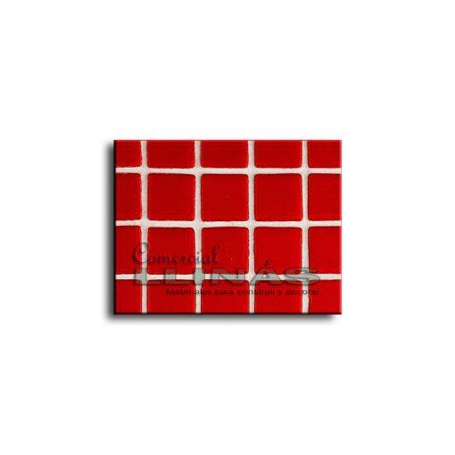 Gresite piscina serie lisa Rojo