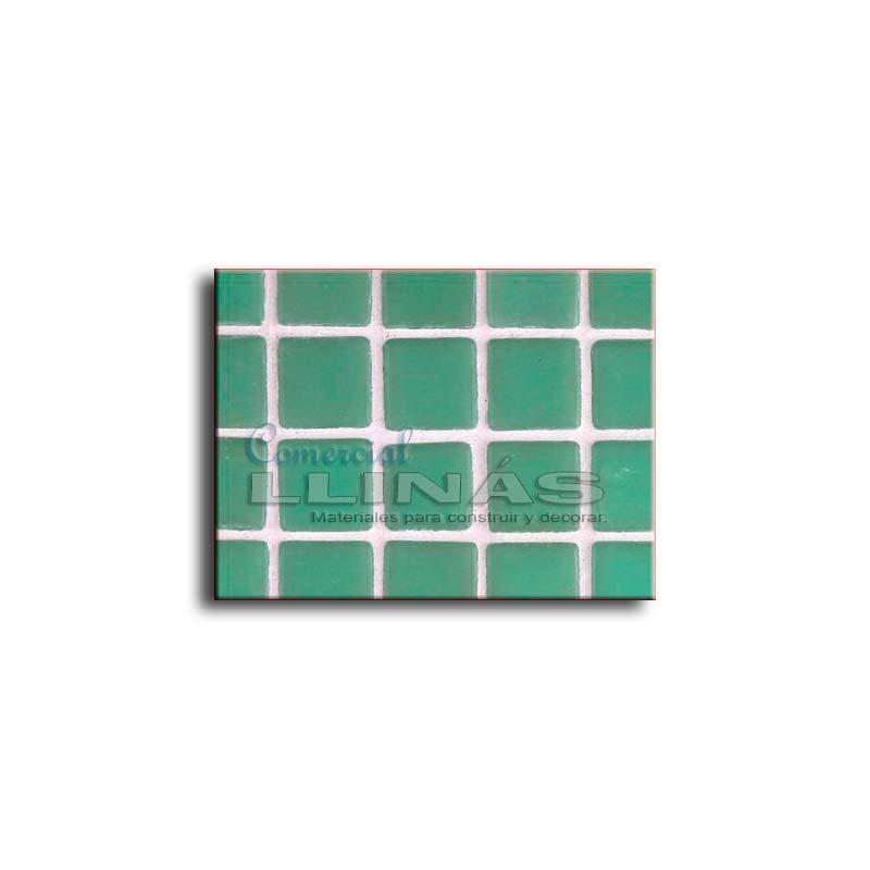 Gresite piscina serie lisa verde claro comercial llin s - Piscina gresite verde ...