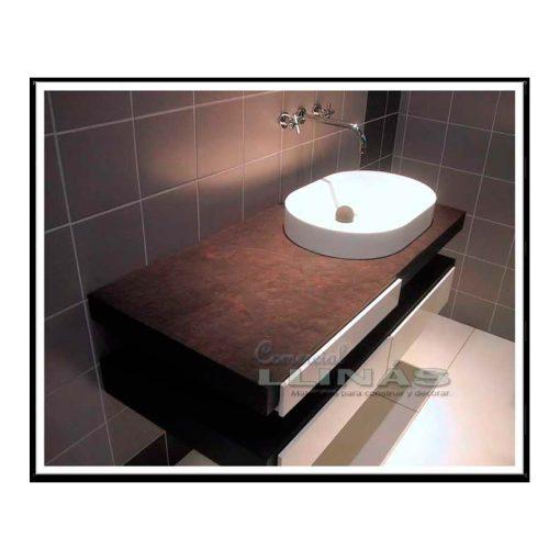 Láminas flexibles de pizarra natural en lavabo