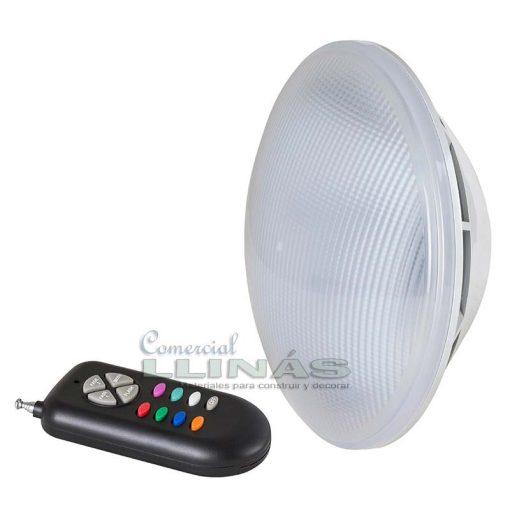 Lámpara LED PAR56 color RGB más mando