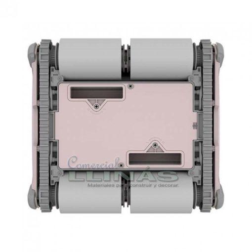 Limpiafondos electrónico piscinas Aquabot K200. Parte de abajo