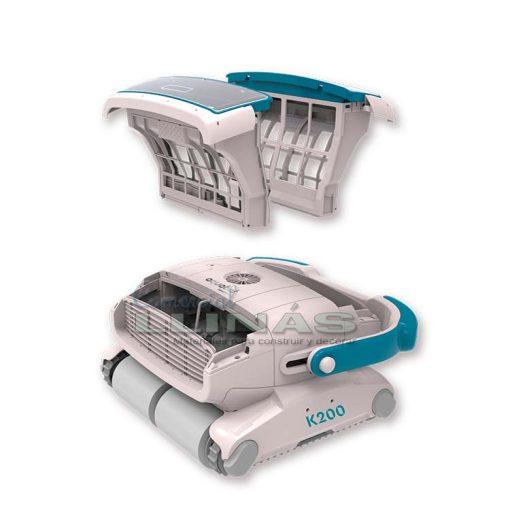 Limpiafondos electrónico piscinas Aquabot K200. Filtros