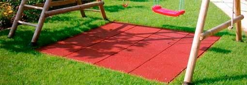 Losetas de caucho para jardines o espacios de ocio