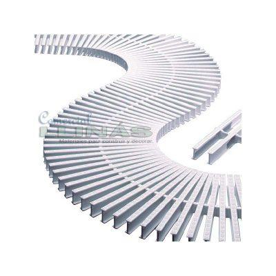 Módulo rejilla rebosadero transversal para curvas