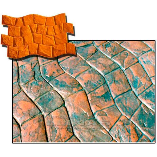 Ejemplo Molde hormigón impreso Adoquín Serpiente
