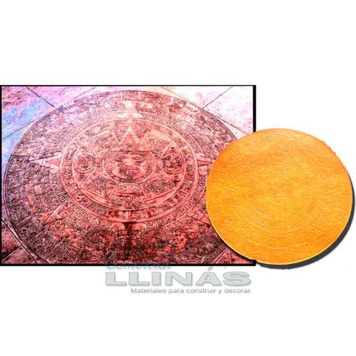 Molde hormigón impreso Circular Maya. Ejemplo