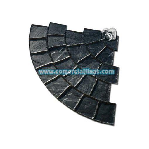 Molde hormigón impreso Abanico circular Peña Lisa
